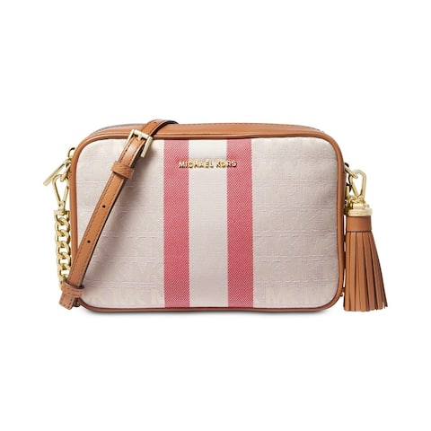 MICHAEL Michel Kors Signature Striped Medium Camera Bag