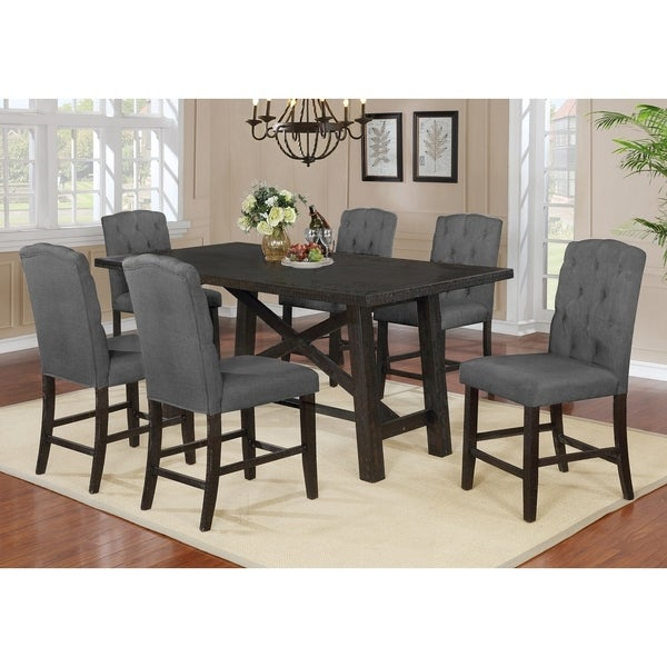 Best Quality Furniture Counter Height 7-Piece Dining Set
