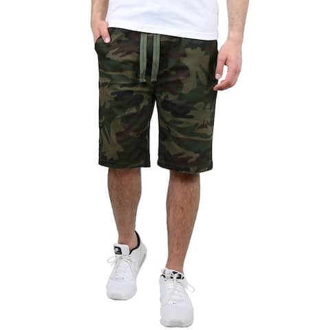 Galaxy By Harvic Men's Cotton Stretch Twill Jogger Shorts (S-2XL)