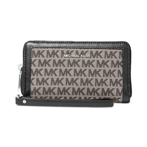 MICHAEL Michael Kors Signature Double Zip Phone Case Whrislet Graphite