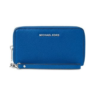 MICHAEL Michael Kors Mercer Leather Multi Function Phone Case Grecian Blue