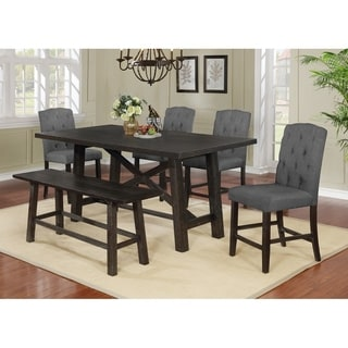 Best Quality Furniture Counter Height 6-Piece Dining Set with Counter Height Bench