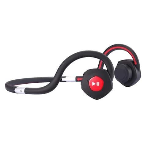 Wireless Open Ear Bone Conduction Headphones in Black