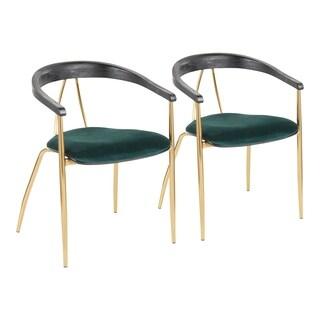Vanessa Velvet Upholstered Dining Chair (Set of 2) - N/A
