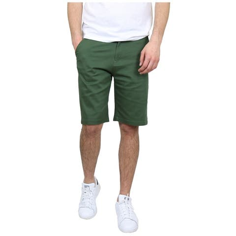 Men's 5-Pocket Flat-Front Stretch Chino Shorts (Size 30-42)