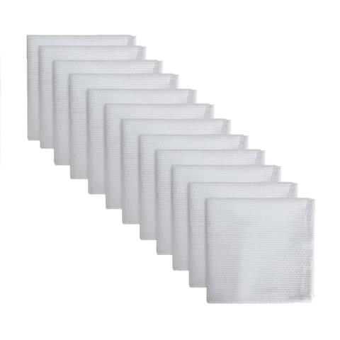 DII White Barmop Terry Dishcloth (Set of 8)
