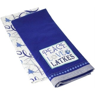 DII Peace Love Latkes Dishtowel (Set of 2)