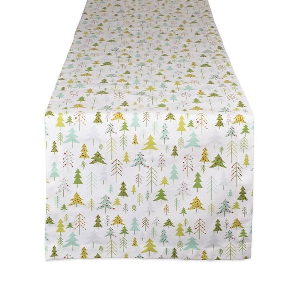 DII Holiday Woods Printed Table Runner