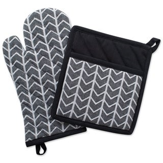 Link to DII Black & White Kitchen Set - Oven Mitt & Potholder Similar Items in Cooking Essentials