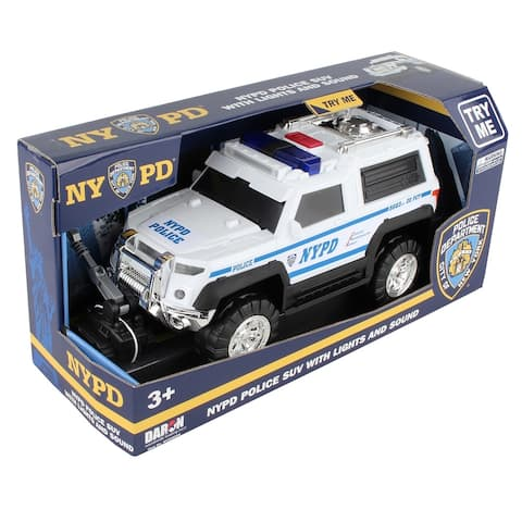 Daron Police Department City of New York Police SUV w/ Lights, Sound & Plastic Robot (NYPD)