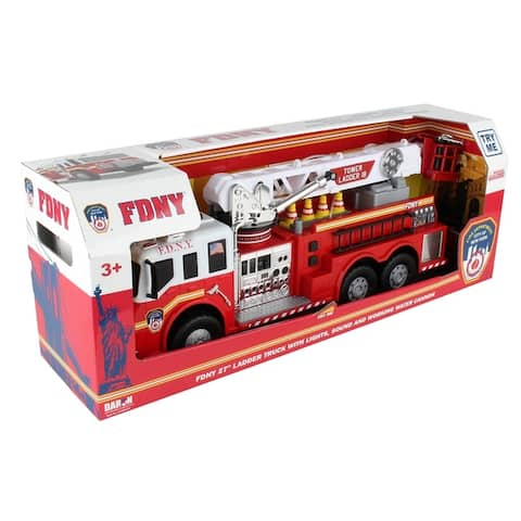 """Daron Daron Fire Department City of New York 27"""" Large Arial Ladder Truck w/ Light & Sound (FDNY)"""
