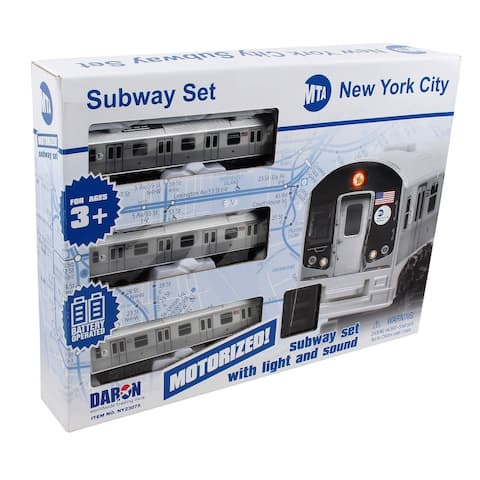 Daron New York City MTA 3 Piece Battery Operated Train Set w/ Track