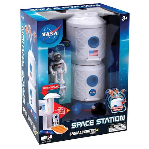 Daron Space Space Adventure NASA Space Station with Lights, Sound, Astronaut, and Space Hover