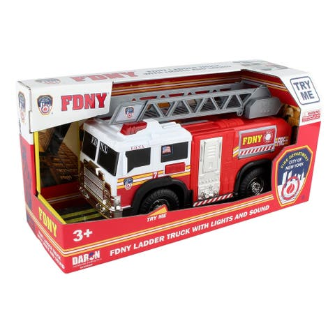 Daron Daron Fire Department City of New York Ladder Truck w/ Lights, Sounds & Moveable Ladder (FDNY)