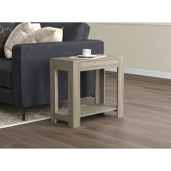 Accent Table - Dark Taupe With Drawer