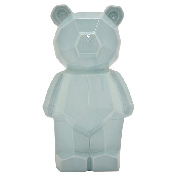 "11 "" Teddy Bear Money Bank - 6.25 x 6.25 x 11"
