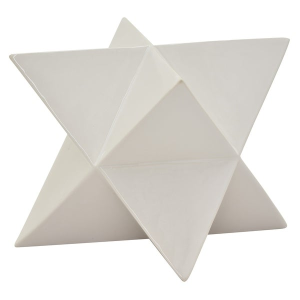 "9.75 "" Ceramic Star Tabletop - 9 x 7.25 x 9.75"