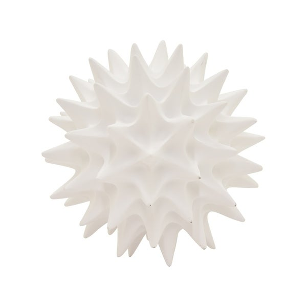 """4.5 """" Spike Orb Tabletop in White - 4.5 x 4.5 x 4.5"""