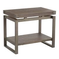 Carbon Loft Uzo Industrial Metal & Wood End Table