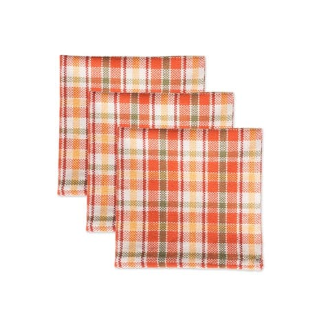 DII Pea Patch Check Heavyweight Dishcloth (Set of 4)