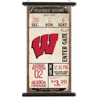 Wisconsin Badgers Kickoff Printed Canvas Banner