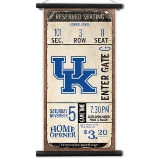 Kentucky Wildcats Tip Off Printed Canvas Banner