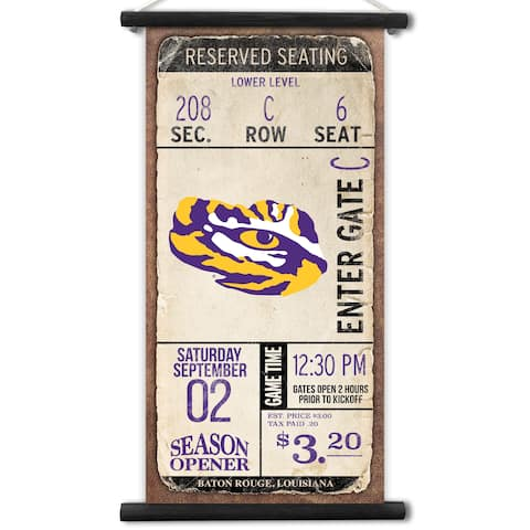 LSU Tigers Kickoff Printed Canvas Banner