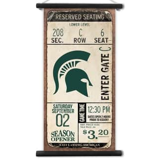 Michigan State Spartans Kickoff Printed Canvas Banner