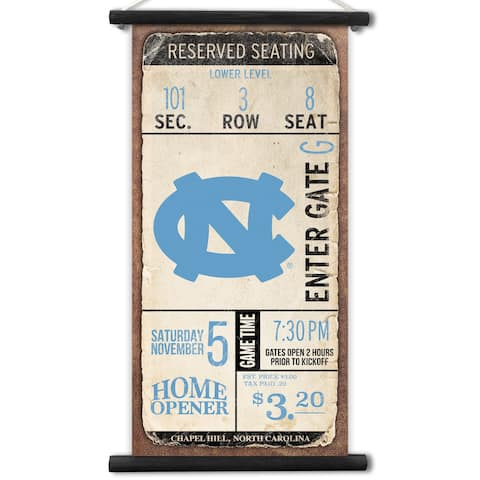 North Carolina Tar Heels Tip Off Printed Canvas Banner
