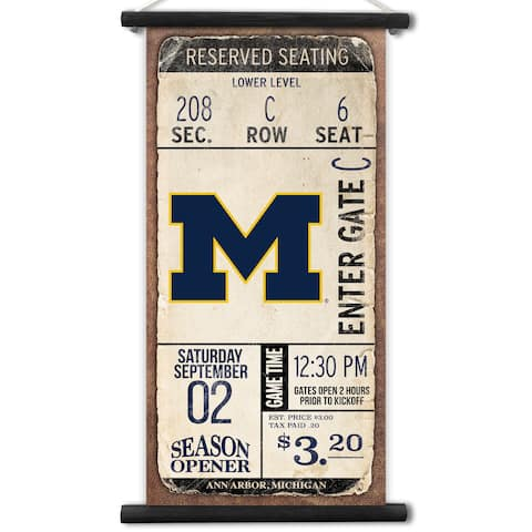 Michigan Wolverines Kickoff Printed Canvas Banner
