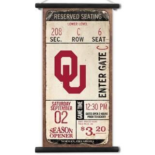 Oklahoma Sooners Kickoff Printed Canvas Banner