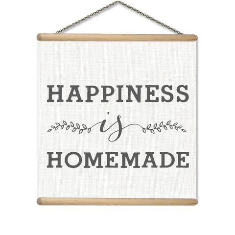 Happiness is Homemade Printed Canvas Banner
