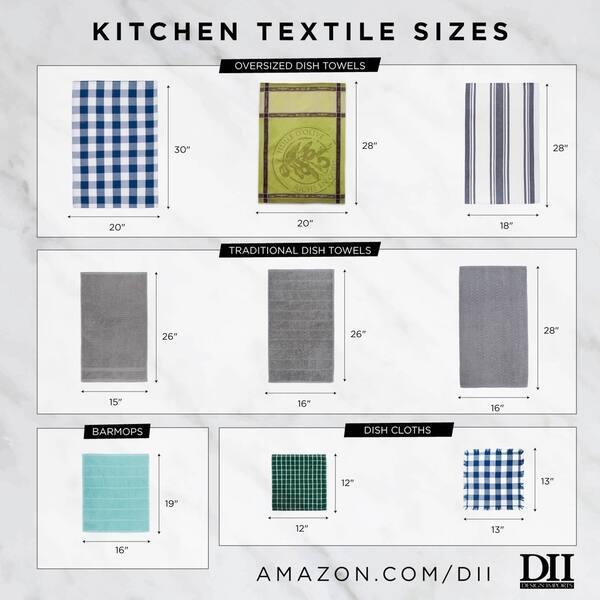Set of 3 Design Imports DII Fish Jacquard Dishtowel