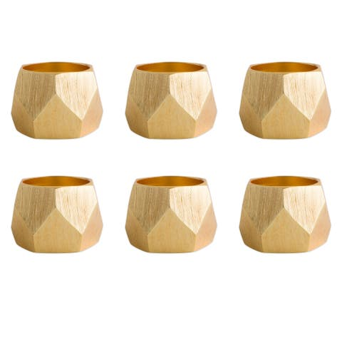 DII Geometric Napkin Ring (Set of 6)
