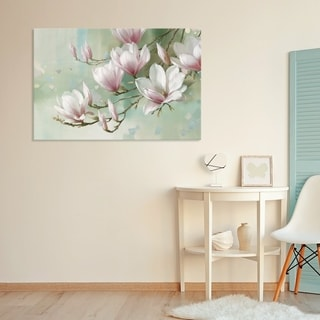"""""""Magnolia Morning"""" Hand Embellished Canvas - 36W x 24H x 1.5D - Multi-color"""