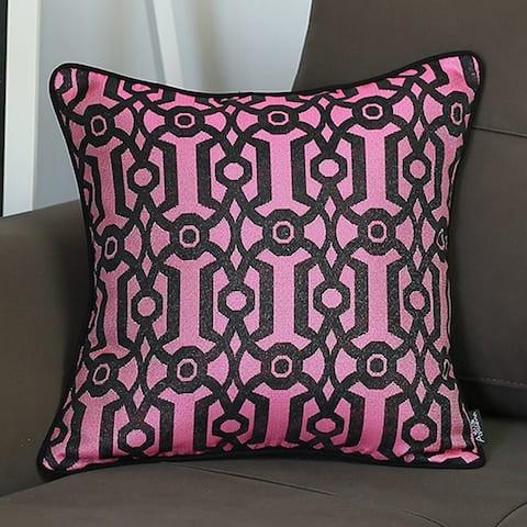 Porch & Den Bethel Purple Geo Jacquard Throw Pillow Cover