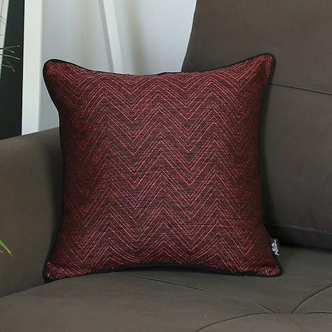 Porch & Den Rein Zig-zag Jacquard Throw Pillow Cover