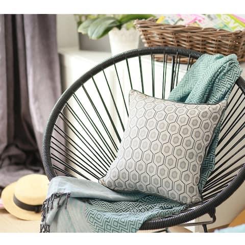Porch & Den Cascara Jacquard Circle-printed Throw Pillow Cover