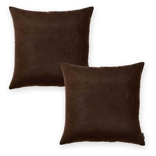 Porch & Den Paddock Brown 20-inch Throw Pillow Cover (Set of 2)