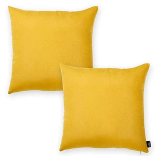 Porch & Den Paddock Yellow 18-inch Throw Pillow Cover (Set of 2)