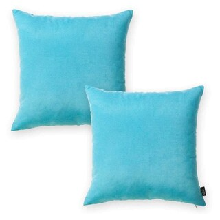 Porch & Den Paddock Sky Blue 20-inch Throw Pillow Cover (Set of 2)