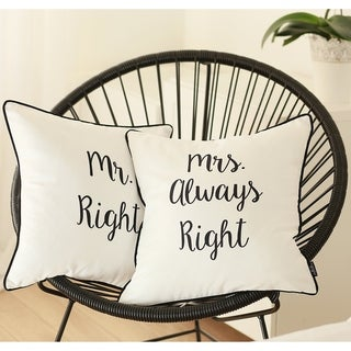 Porch & Den Boston Mrs. Always Right Throw Pillow Cover (Set of 2)