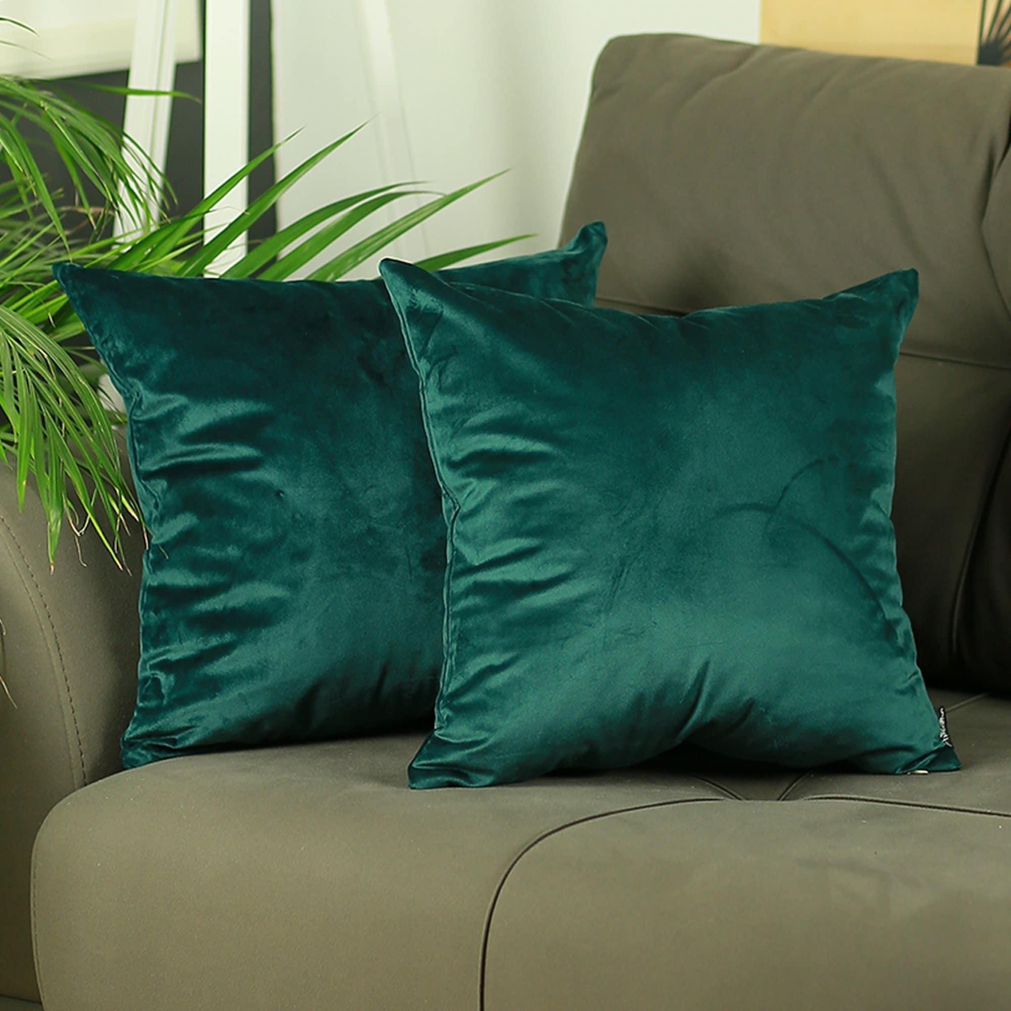 Silver Orchid Arco Velvet Dark Emerald Green Decorative Throw Pillow Overstock 28533541