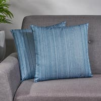 Brunnera Modern Water Resistant Fabric Square Pillow (Set of 2) by Christopher Knight Home