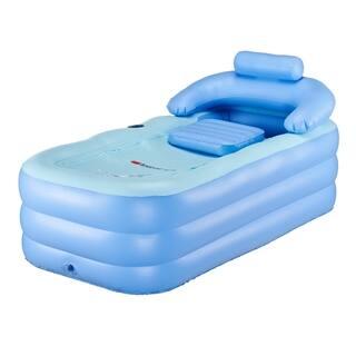 CO-Z Inflatable Bath Tub with Air Pump-Blue