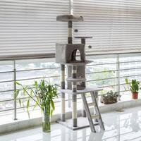 Kinbor Cat Tree Condo Kitty Play House Cat Tower Furniture with Catnip Dangling Balls
