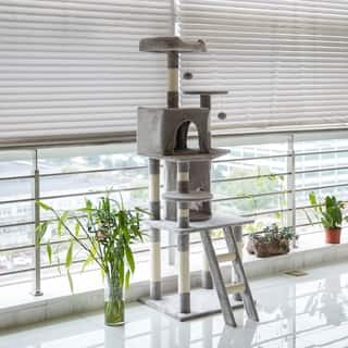 Kinbor Cat Tree Condo Kitty Play House Cat Tower Furniture with Catnip Dangling Balls