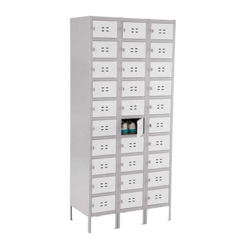 Safco 10 Tier 3 Column Steel Storage Locker - Gray