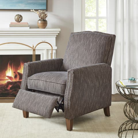 Madison Park Blacow Brown Push Back Recliner