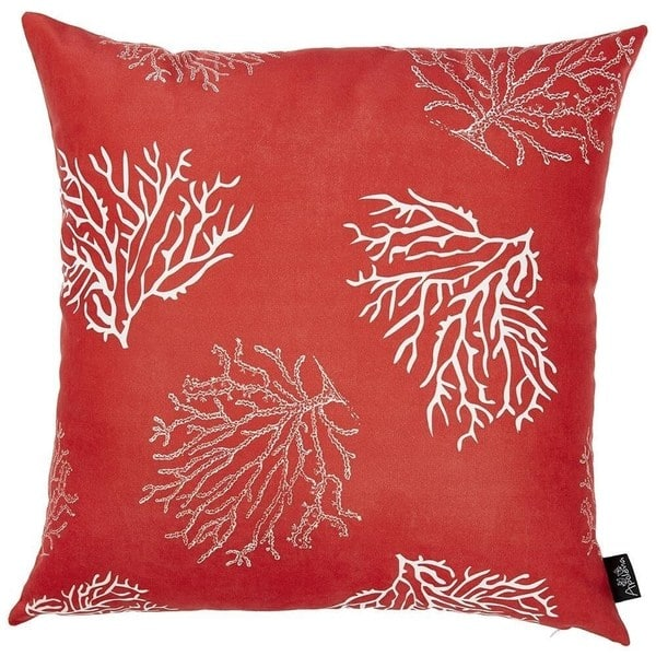 Porch Den Pebble Beach Red Reef Throw Pillow Cover Overstock 28533928